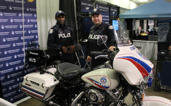 "<p>The cops were there too, but they weren't writing any tickets. ""We're here just to bring awareness of safe riding,"" says Const. Karey St.-Clair of the Toronto Police Service. ""In Toronto, we had seven riders die on our roads last year.""</p>"