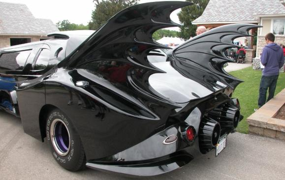 2013 Fleetwood Cruize-In -Batmobile limo rear view