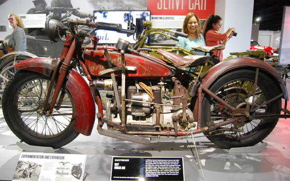 """<p>The Indian Motorcycle Manufacturing Company, on purchasing Ace Motor Corporation in 1927, released the Indian Ace, a luxury motorcycle that housed Ace's four-cylinder engine. Shortly after the Ace was introduced, Indian boasted having the """"Worlds Most Complete Cycle Line"""" with models offering one-, two-, and four-cylinder engines.</p> <p>This model remained in production until 1942, although Indian dropped """"Ace"""" from the name, calling it the Indian Four, after the year it was released.</p>"""