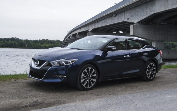 <p>This eighth-generation edition of Nissan's flagship sedan, the 2016 Maxima, is all new, with styling inside and out inspired by a fighter jet, Nissan says. A glimpse of that design theme is apparent in the wraparound windshield, which has hints of an aircraft's canopy. The blacked-out A-pillar enhances that image. The black panel on the C-pillar creates the illusion the roof, now 33 millimetres lower than the previous generation's, is floating above the car, adding to the jet canopy theme.</p>
