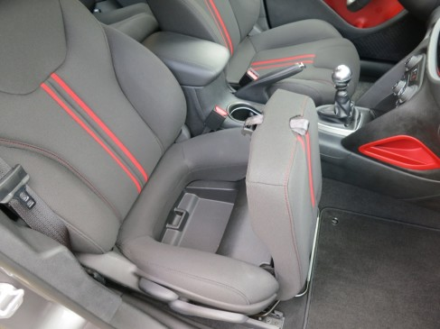 2013 Dodge Dart - front passenger seat hideaway