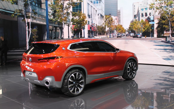 <p>BMW's new small SUV, the X2, also broke cover at the show. It's officially still a concept, but the production version will be very similar when it appears as a 2018 model.</p>