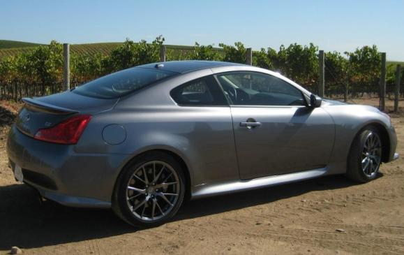 2011 Infiniti G37 IPL Coupe - side 3/4 view