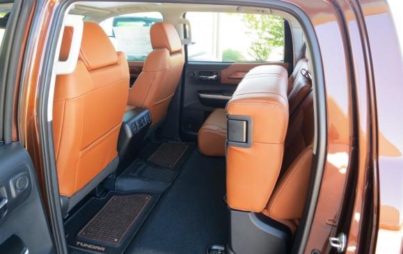 2014 Toyota Tundra - back seat folded