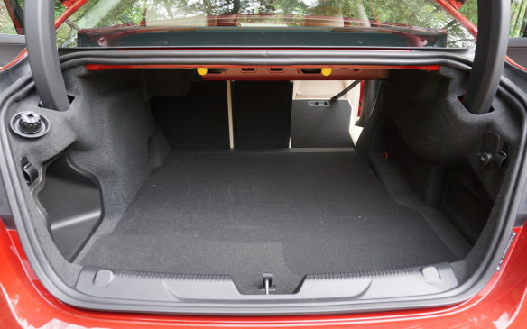 <p>Jaguar claims 455 L of trunk volume for the XE, which would put it at the head of its class. TBH we suspect that's based on more-lenient European measurement protocols, and on that basis the XE's cargo hold is a little smaller than those of German rivals measured the same way. But it's still a decent size with a practical shape and useful 40/20/40-split folding back seat.</p>
