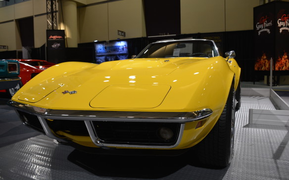 <p>Guy Fieri has a nice collection of vehicles including a 1976 Jeep CJ-5, 2006 Chevrolet Kodiak, 2007 Corvette, 2007 Shelby Cobra and a 2011 Chevrolet Camaro. This '69 Stingray is a great addition to his fleet, as it's part of the golden era of American muscle cars. Its sloping front end, striking side gills, powerful 427 cubic-inch (7.0-litre) V-8 engine and typical Corvette curves can stop anyone in their tracks.</p>