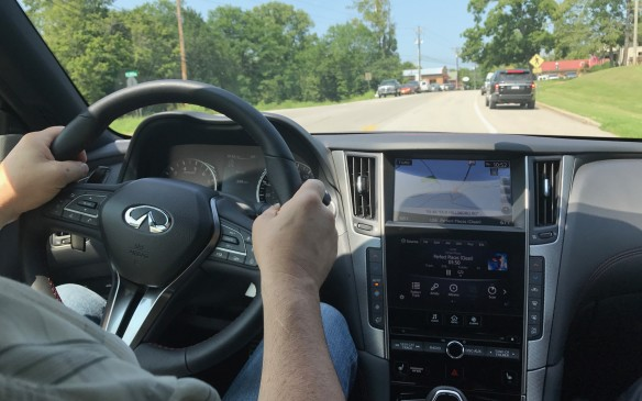 <p>If the car in front were suddenly to slow down, the Q50 would also slow down to maintain a safe distance, even when the cruise control was not set. It would bring the sedan's speed all the way down to a halt if necessary.</p>