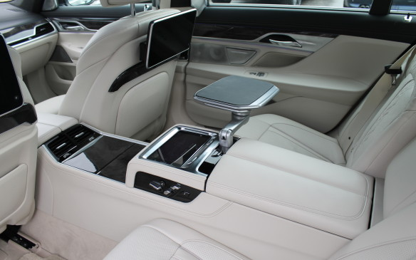 <p><strong></strong>It includes turning the back seats into work spaces while the chauffeur takes care of the driving, with flip-up tables available in the centre console.</p>