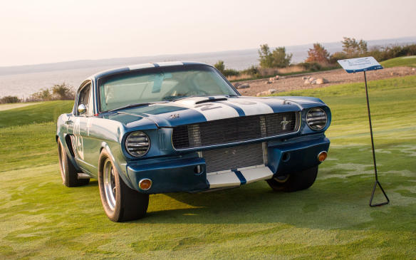 <p>From the same era was this race-hardened 1966 Shelby Mustang GT350R.</p>