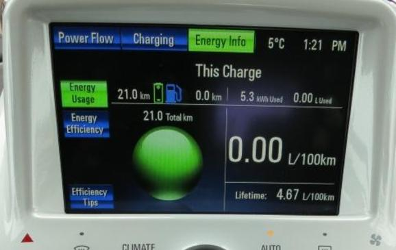 2013 Chevrolet Volt - centre stack screen
