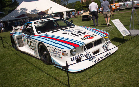 "<p>Back among the race cars, this 1981 Lancia Beta Montecarlo Coupe ""silhouette"" racer won the 1981 World Championship for Makes (under 2.0-litre class).</p>"