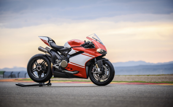 <p>It's not really all that relevant, but since you were thinking of it, this is the $100,000 Ducati: 156 kg dry weight and 220 hp. Only 500 will be built, and they're all works of mechanical art.</p>