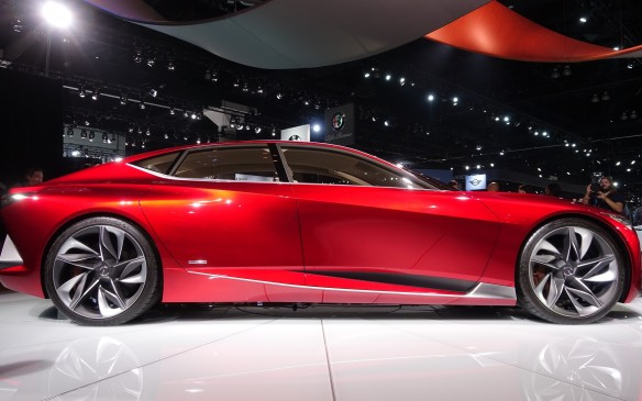 <p>Concept or not, this lean, sleek, hunkered-down sedan would do wonders for the Acura brand if it were produced.</p>