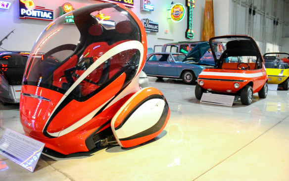 <p>These pod-like vehicles could be up-to-the-minute concept cars, predicting our near-term future, but the EN-V in the foreground dates back to 2010 and the 512 Experimental Vehicle behind it al the way back to 1969.</p>