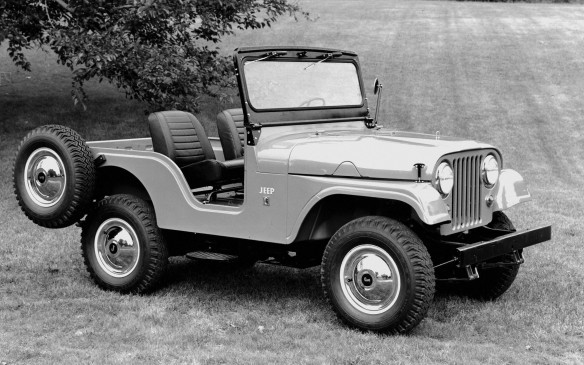 <p>The military M38-A1 subsequently evolved into the civilian CJ-5, which debuted in 1955.</p>