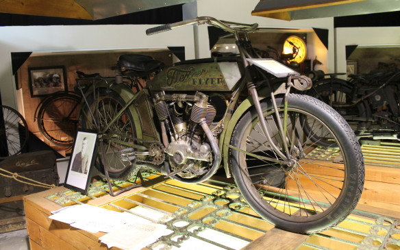 <p>Flescher was so inspired by Wyman's bike that he started his own motorcycle company in Omaha. This is the 1914 Flescher Flyer, the fourth of only five Fleschers that are known of.</p>