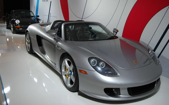 <p>Porsche has suppliedfive significant vehicles from its history to kick off its <em>70 Years of Porsche</em> activities planned for 2018. Seen here is an iconic, mid-engined Carrera GT.</p>