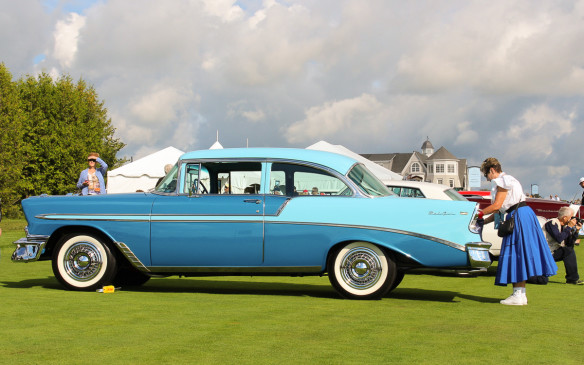 <p>Included in that post-war class was this classy two-toned 1956 Chevrolet Bel Air, arguably every bit as attractive as it's much lionized '57 counterpart. </p>