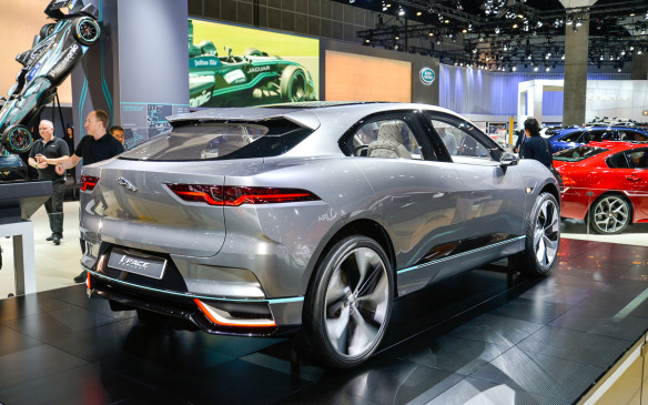 <p>Jaguar eliminates the conservative styling stigma of most electric vehicles, as the I-Pace has plenty of sporty curves along with 400-hp of sports car performance. The I-Pace production model should be available at some point in 2018.</p>