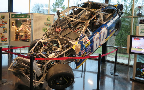 <p>Visitors will see the car of ARCA series driver Todd Kluever after it had flipped and barrel-rolled at Daytona. The driver walked away and the display shows the safety and durability of the Roush-constructed chassis. The visitors centre also shows Jack Roush's evolution from drag racer to Trans Am Series to NASCAR with an assortment of trophies and actual race cars from the past and present. There is also a 100-seat theatre and a retail store.</p>