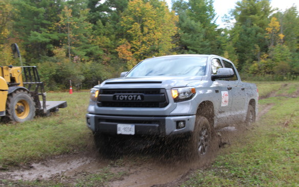 <p>The Toyota Tundra, with its TRD Pro suspension upgrade, was the hands-down king of the trails, outscoring the other mid-size and ½-ton entries. (The HD ¾-ton trucks were not tested on the off-road course.)     </p>
