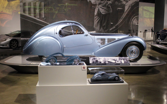 "<p>Jean Bugatti's masterpiece, the type 57SC was the limited production model based on the one-off Aerolithe Elektron Coupe built for the 1935 Paris Auto Salon, and subsequently lost to posterity (although <a href=""http://www.autofile.ca/en-ca/car-photos/2015-cobble-beach-concours-delegance"">a replica</a> has recently been recreated by Canada's Guild of Automotive Restorers). This is the first of just four Atlantics built – one of which reportedly changed hands recently for about US$40-million!</p>"