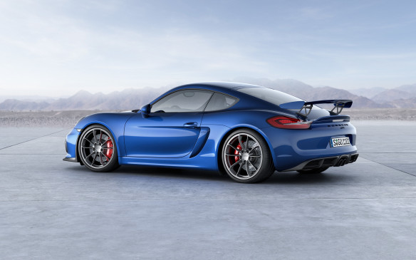 <p>Along with what Porsche calls a race-bred suspension that sits lower to the ground, plus aggressive aero add-ons and components pilfered from the 911 GT3, the Cayman GT4 is powered by a 385-horsepower 3.8-litre flat-six engine offered only with a six-speed manual transmission.</p>