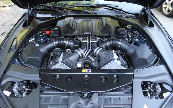 <p>The regular M6 makes 560 horsepower from its 4.4-litre turbocharged V-8 engine, but our car had the Competition package that boosts the horsepower to 600!</p>