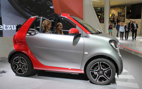 <p>If you prefer your cars even smaller, the latest generation of the Smart Fortwo now comes as a cabriolet, in both conventional- and electric-powered versions.</p>