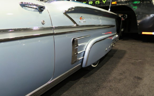 <p>The suspensions of many low-riders incorporate hydraulic lift systems with pumps and valves that can alter the ride height at each corner, individually.   Among the more popular cars for this treatment are late-50s Chevrolets such as the 1958 Impala.</p>