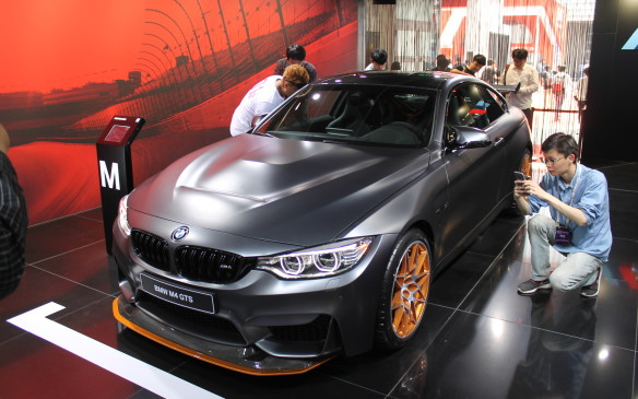 <p>Not to be outdone in the horsepower wars, BMW unveiled its M4 GTS – a 493 hp, limited-edition version of the already powerful M4. It was a big hit at the show.</p>