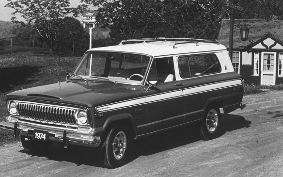 <p>The Cherokee debuted in 1974 and was a sportier Jeep intended for younger buyers, with two-door style, decorative stripesand a sports steering wheel.</p>