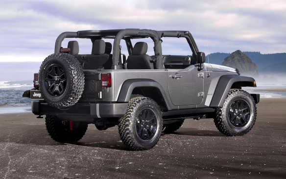 <p>For 2018, the iconic Jeep<sub> </sub>Wrangler JK features a standard eight-speaker audio system and an optional Premium Alpine Audio Package that includes nine Alpine speakers, a subwoofer and a 552-watt amplifier. Three new JK models join the lineup – the Wrangler JK Golden Eagle, Freedom, and Altitude Editions. The Golden Eagle features include a premium tan soft top and available tan half-doors, Golden Eagle centre and side hood decals, body-colour grille and fender flares, steel front and rear bumpers with bronze tow hooks, heavy duty rock rails with matching black tail lamp guards and fuel fill door, 17-inch low-gloss bronze wheels with BF Goodrich KO2 tires, Golden Eagle logos on the front seats, titanium-painted bezels, vent rings, and door handles, all with silver bolt heads, light bronze accent stitching on the McKinley vinyl-wrapped front door armrests and console lid, a black leather-wrapped steering wheel and black cloth seats. The Freedom Edition returns for 2018 with military-themed exterior and interior design cues, while the Altitude's features include a body-color grille with black throats, head lamp rings, front and rear bumper appliqués and 18-inch wheels with Bridgestone Dueler tires. Other features for the Sahara-based model include a standard body colour hard top, power bulge hood, black tail lamp guards and fuel fill door and standard black leather seats with grey accent stitching. </p>