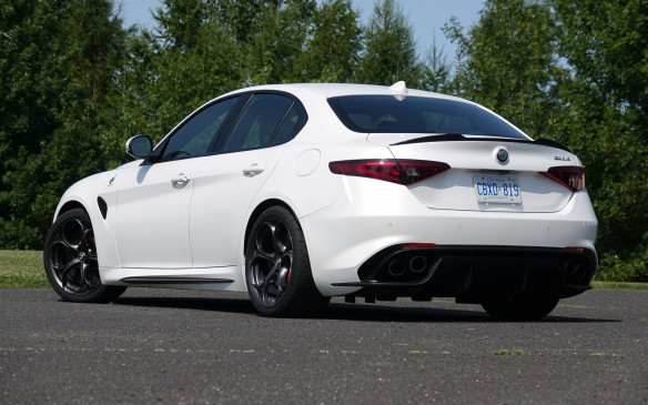 <p>The Giulia Ti Sport we tested, priced at $62,090, is an elegant, swift and sweet-driving sport sedan. And its all-wheel-drive layout is an invitation to drive it year-round, in this country. The Quadrifoglio, on the other hand, is a brawny and remarkably capable performance sedan in the best European tradition. And quite possibly the best of the moment, in terms of overall handling and performance. The Trofeo White car we drove had a suggested price of $101,345, including all options, but not a hefty delivery fee of $2,495. So take your choice – and let's just hope these Italian charmers also prove reasonably reliable.</p>
