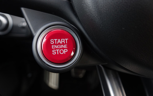 <p>The steering-mounted start-stop button also turns red for the Quadrifoglio. Other features exclusive to the top Giulia sedan include cylinder deactivation for the engine, torque vectoring provided by the twin-clutch differential, larger brakes, a performance-tuned 'adaptive' suspension, a Race mode to complement the existing three, full xenon headlights with auto-leveling technology, corner illumination and washers, plus additional safety systems such as blind-spot monitoring and rear cross traffic and obstacle detection.</p>