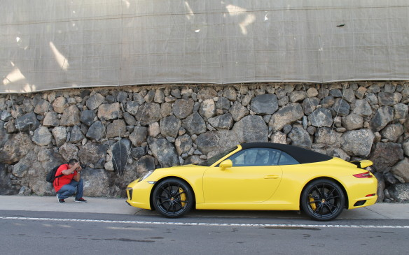 <p>We drove first in a convertible Carrera S. It had a very smooth seven-speed stick shift.</p>
