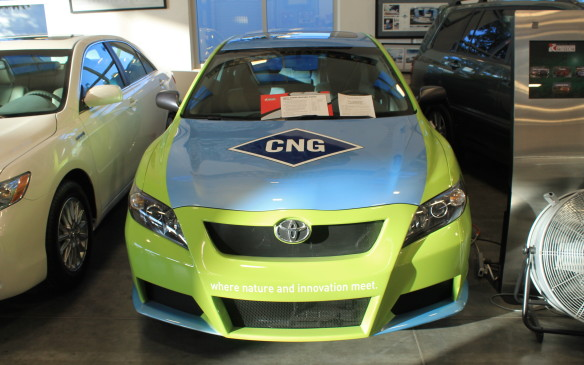 <p>There's even a Camry that's powered by compressed natural gas. This vehicle was displayed at the 2008 Los Angeles auto show.</p>