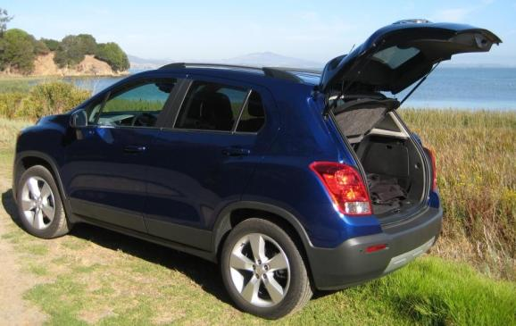 2013 Chevrolet Trax - rear 3/4 view, hatch door open