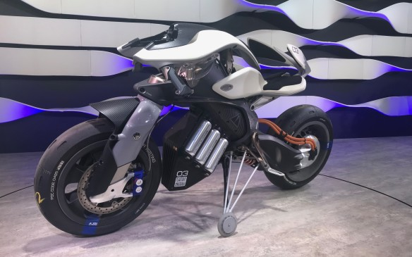 <p>There are always motorcycles at the motor show from the four big Japanese makers, and Yamaha debuted its two-wheeled version of Artificial Intelligence, called the Motoroid. The electric bike is supposed to interact with its rider for a safer and more personalized ride, but it doesn't look very comfortable.</p>