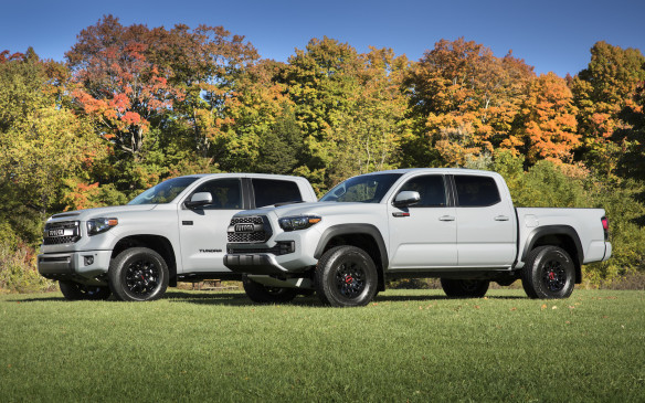 <p>Sitting further from mother earth atop special suspensions and riding on off-road specific tires, the new TRD Pro vehicles includes limited numbers of Tacoma, Tundra and 4Runner models.</p>