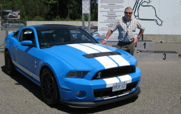 Clare Dear with 2013 Shelby GT500 at Calabogie