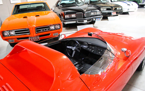 <p>While the Pontiac brand was discontinued in 2010, it contributed many memorable models to GM's history during its hey days, including the GTO, Grand Prix and Firebird Trans Ams seen here, behind a Corvair Monza SS concept car.</p>