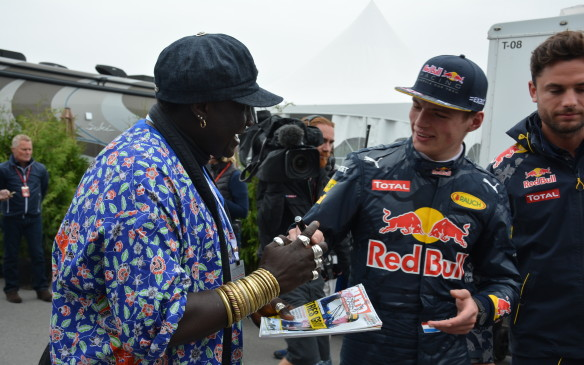 <p>There are several Formula One superfans that come to each race around the globe, but none more recognizable than Moko, a Senegalese native that lives and breathes Formula One. Moko knows most of the drivers, even getting autographs of some of the newcomers like 18-year old Max Verstappen of Red Bull Racing. </p>