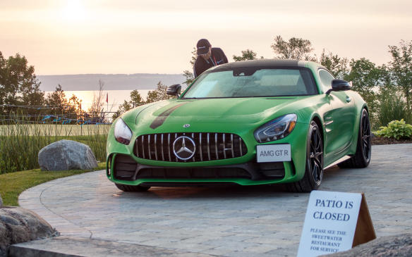 <p>At the early-morning entrance to the show field, this  Mercedes-AMG GT R got a wipe-down to clear it of overnight dew.</p>