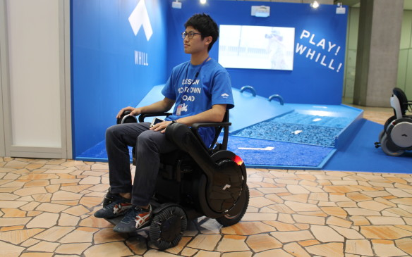 <p>The Whill is sold in Japan and the United States, and is operated like a wheelchair and controlled through a cell phone app.</p>