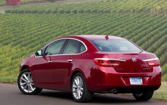 2012 Buick Verano- rear 3/4 view