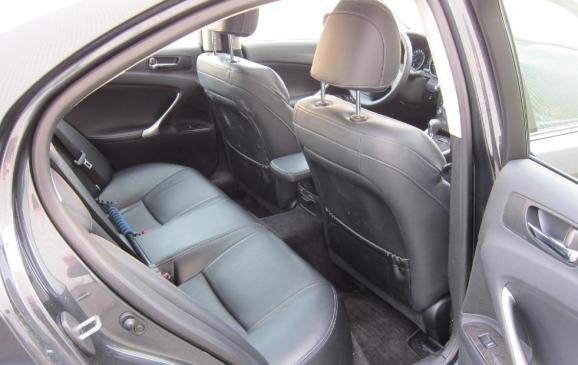 2012 Lexus IS350 - rear seat