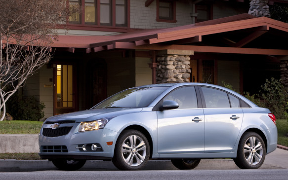 <p><strong>2011-13 Chevrolet Cruze</strong></p> <p>The product of world-class thinking, the Chevrolet Cruze utilized GM's Delta II front-drive platform developed by German subsidiary Opel and GM Daewoo in South Korea. Two-thirds of the sedan's structure was composed of high-strength steel to save weight and attain the highest crash protection ratings. The cabin offered good ergonomics and a nicely laid-out instrument panel. Base models used a 138-hp, 1.8-L DOHC four cylinder engine tied to a six-speed manual or automatic transmission. Optional was a turbocharged 1.4-L DOHC four that also made 138 hp, but generated considerably more torque.</p>