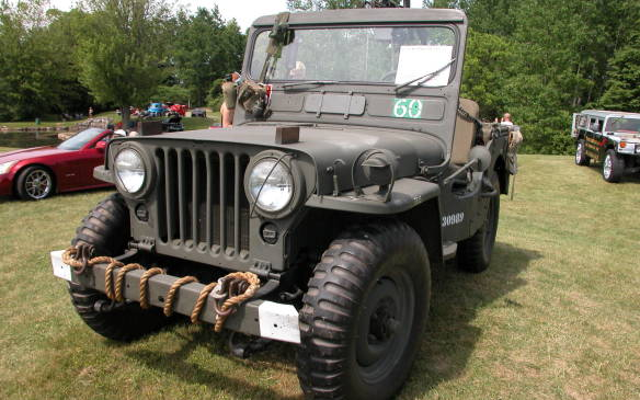 <p>This 1952 Ford military Jeep was built in Windsor, Ontario</p>