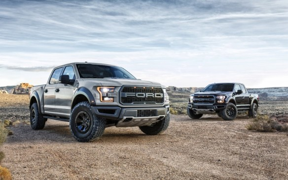 <p>The original F-150 SVT Raptor, an off-road savvy version of Ford's best-selling full-size pickup, was a smash hit when it launched in 2011. The second iteration of the beast was unveiled at the 2016 Detroit Auto Show. Built on the F-150's landmark, aluminum-intensive platform, it is up to 227 kg (500 lb) lighter than its predecessor, has more muscle and runs on seriously upgraded suspension, transmission and four-wheel drive hardware. The new Raptor is available as a four-door SuperCrew (foreground) that starts at $69,899 or a two-door SuperCab that rides on a 12-inch (30 cm) shorter wheelbase, at $67,899.</p>
